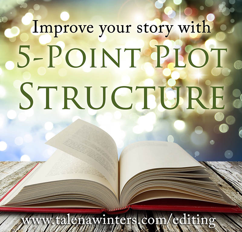 Improve your story with 5-Point Plot Structure.  Whether you are a pantser or a plotter, every story needs to follow a basic outline of rising tension to a satisfactory climax. The 5-Point Plot Structure is one of the most basic frameworks to guide your story. Talena Winters breaks down the 5-Point Plot Structure, then uses it to analyze the movie  Moana , with tips for relating this to other genres. The structure can be applied to short stories, novels, chapters, episodes, and series. It is a great tool for writers and authors, whether self-published or traditionally published, to improve their writing.
