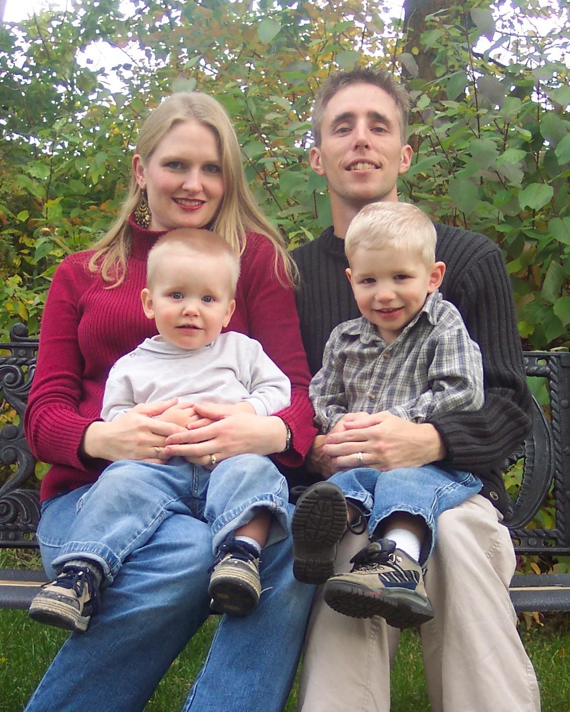 Family photo, Sept. 2005. (I was still 7 mos. preggo with Jabin.)