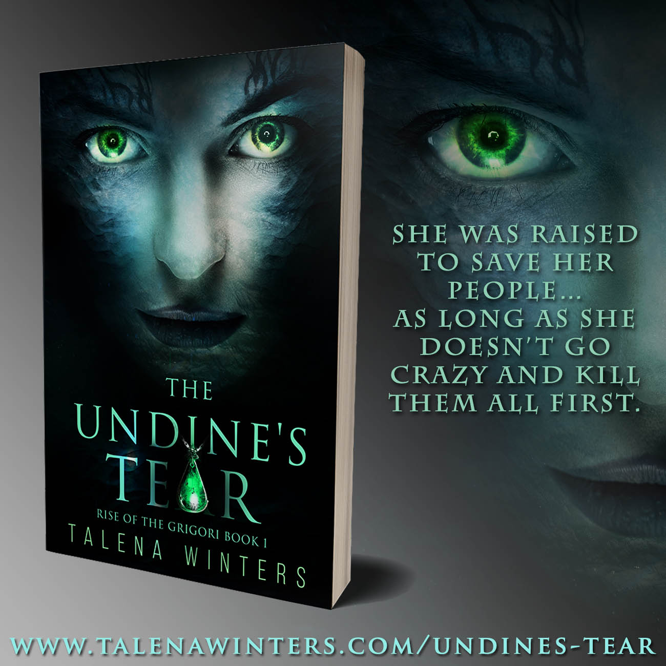 She was raised to save her people—as long as she doesn't go crazy and kill them all first.  The Undine's Tear  by Talena Winters. Young adult science fantasy.