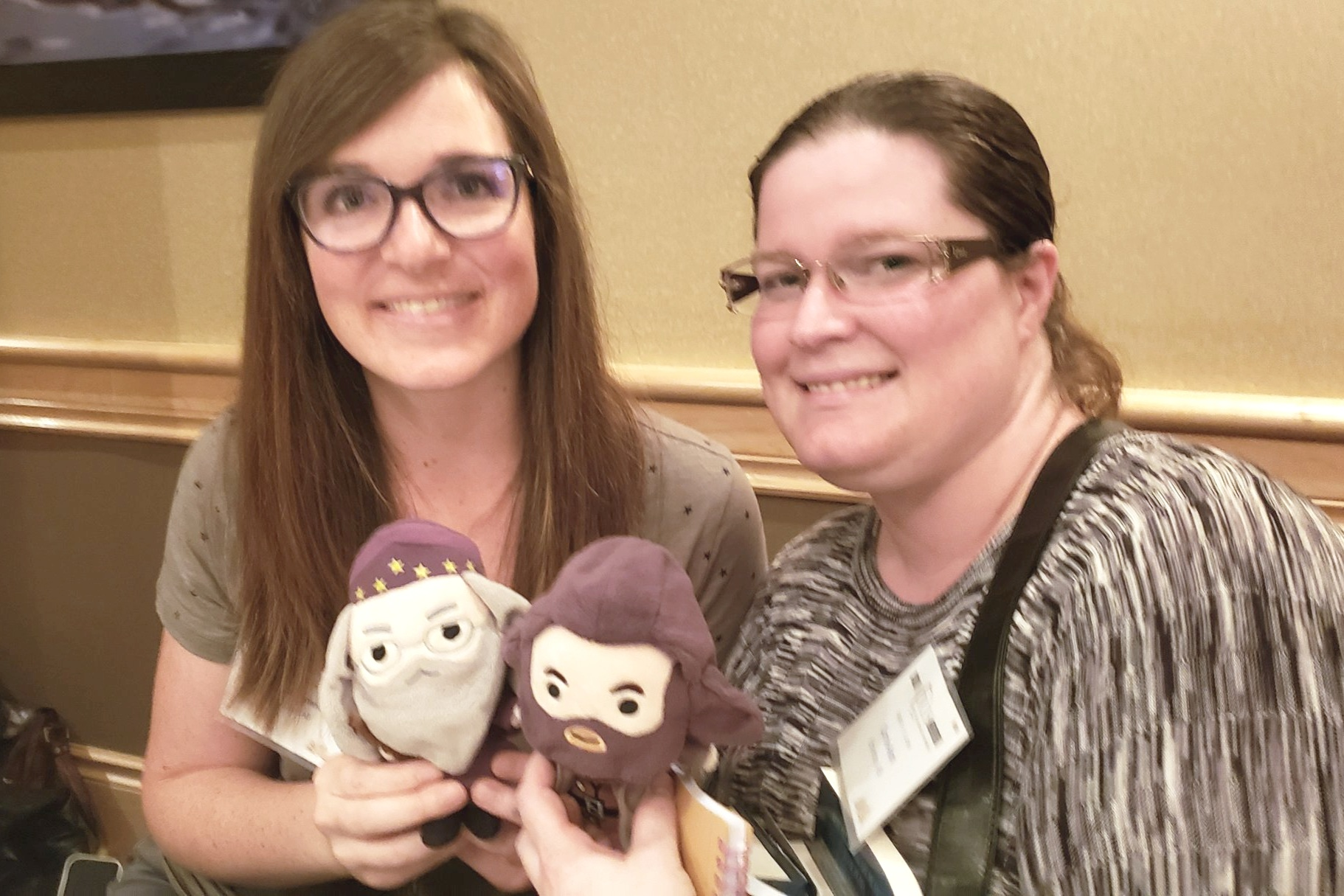"""I was thrilled that my friends, author  Jessica Renwick  and book blogger Corrie DeWolfe ( Fae's Finds on YouTube ), were among the """"contingent"""" who came this weekend."""