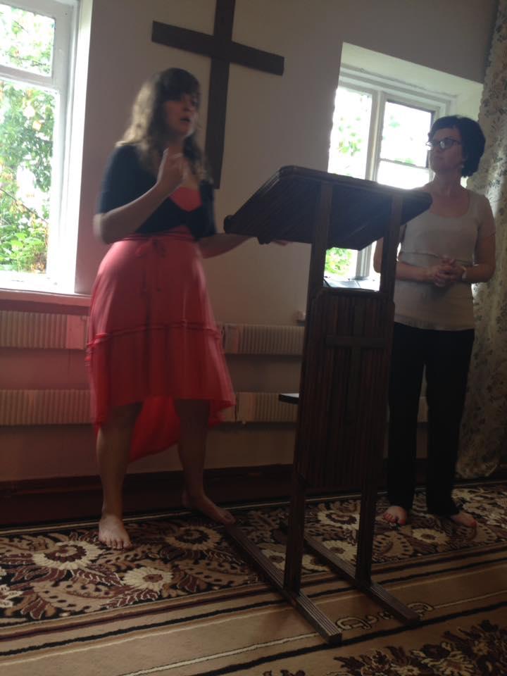 Katelynn preaching in Elista.jpg