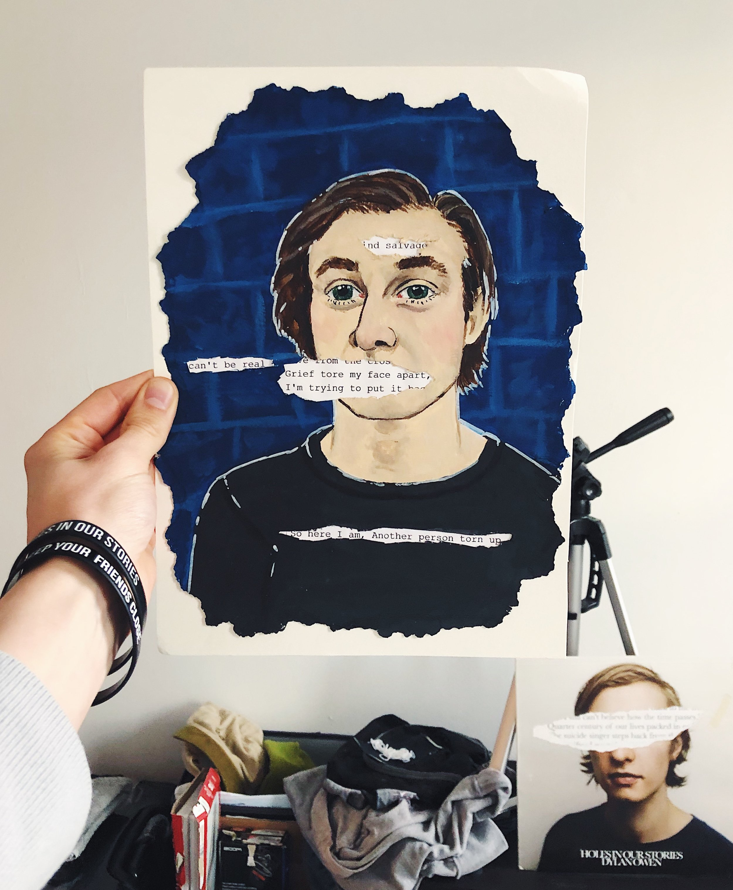Portrait mailed to me  by Maggie.   https://www.instagram.com/semiartimatic/