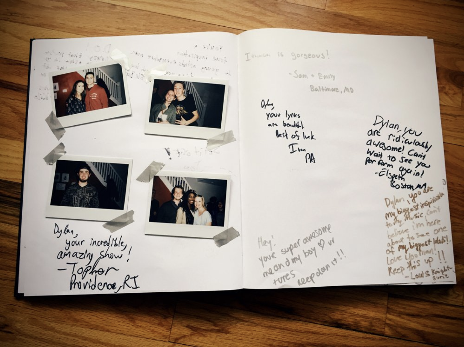 Tour book. March 12 2016.  Philly, PA.