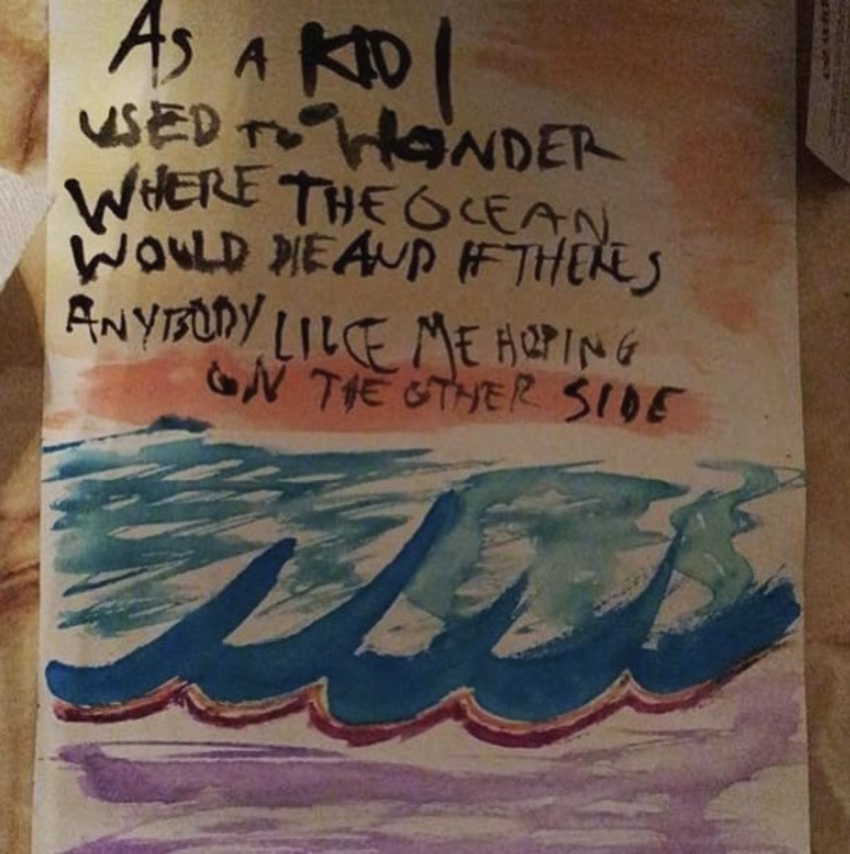 Ghosts lyric painting  by snooprobb34