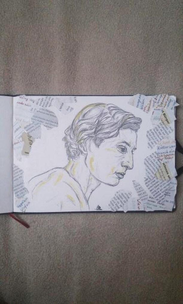 stunning portrait of me  drawn by @schliiinchen on instagram