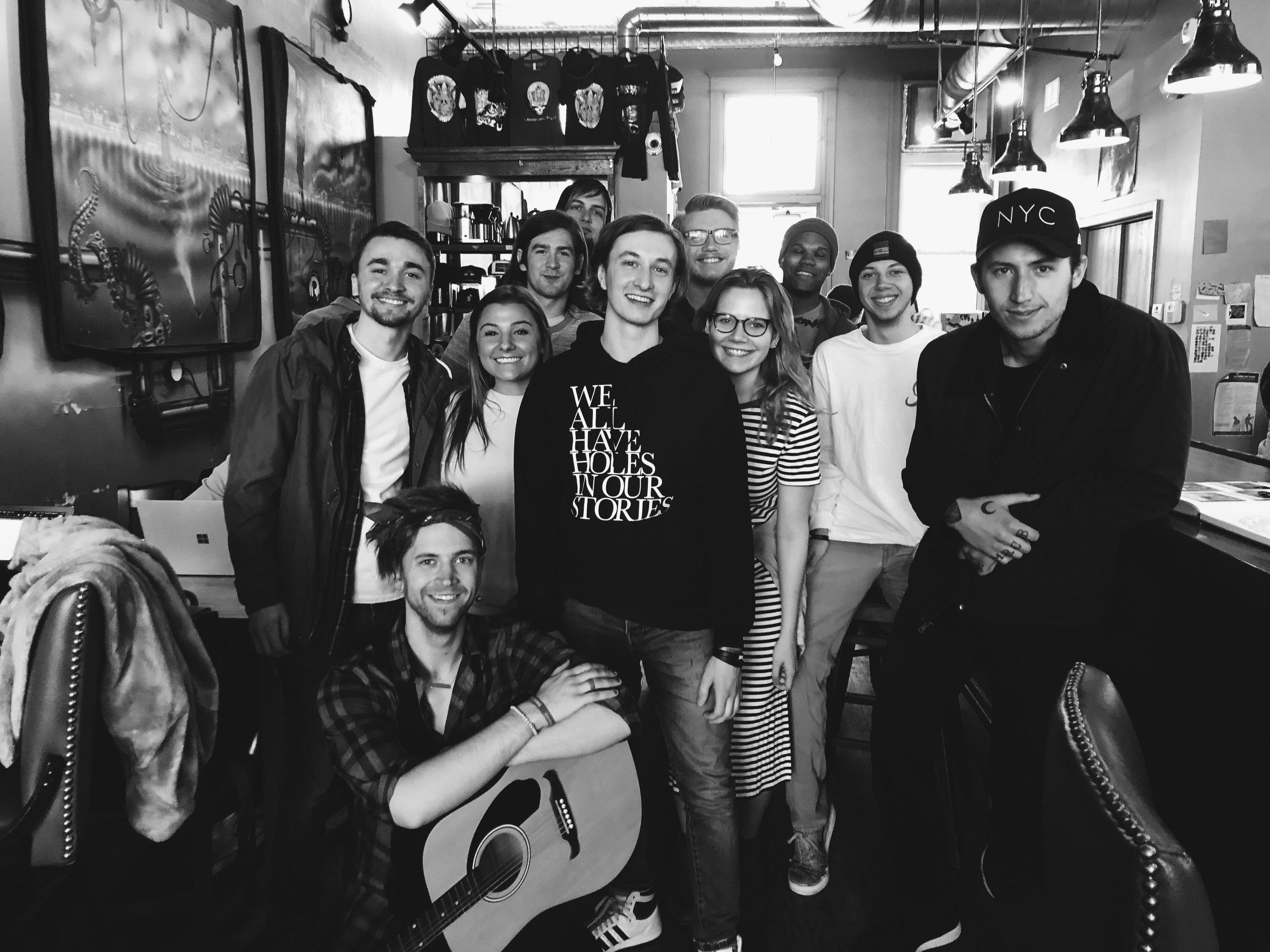 coffeeshop meetup.  Chicago, IL.
