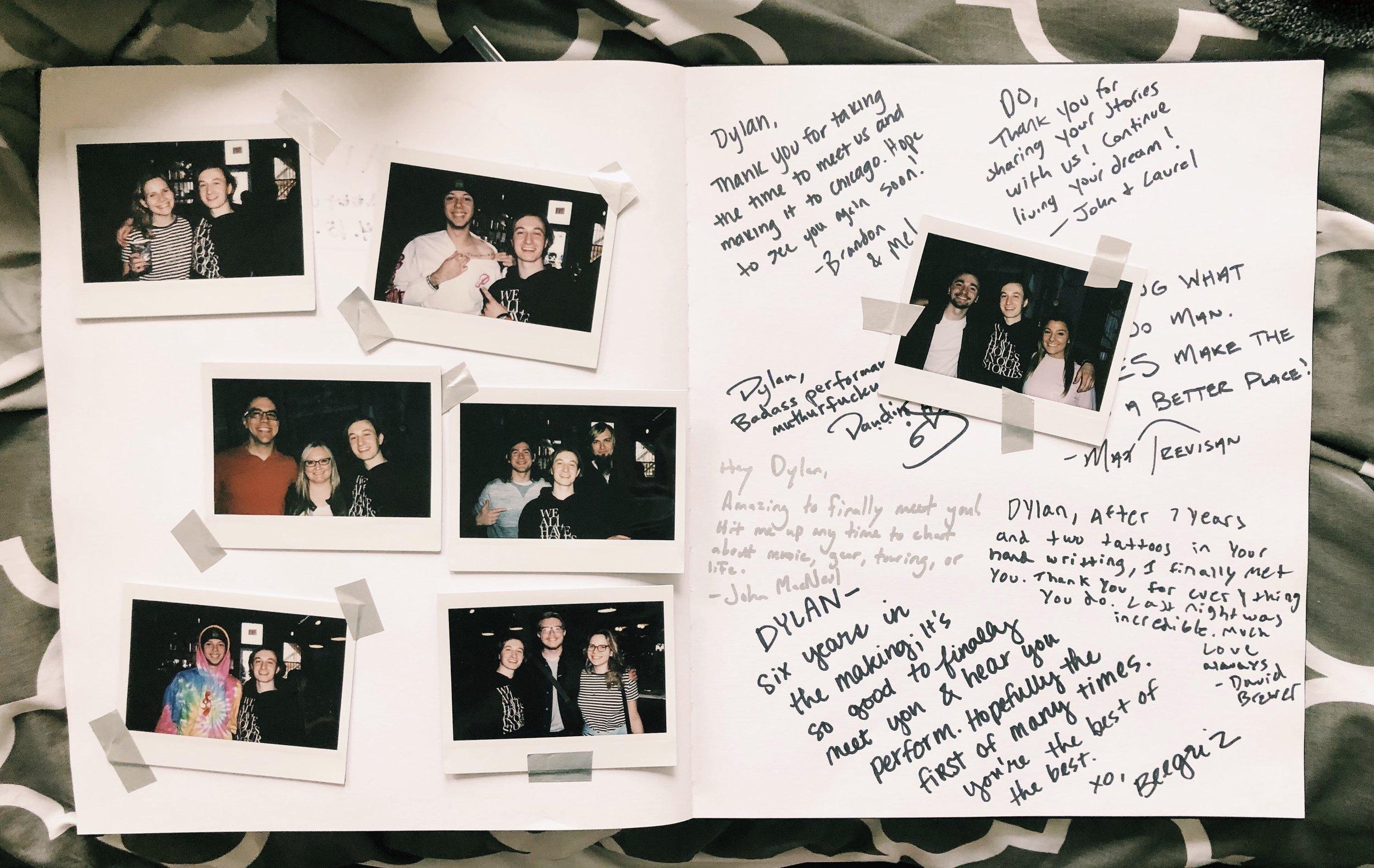 Tour book. April 15 2019.  Chicago IL.