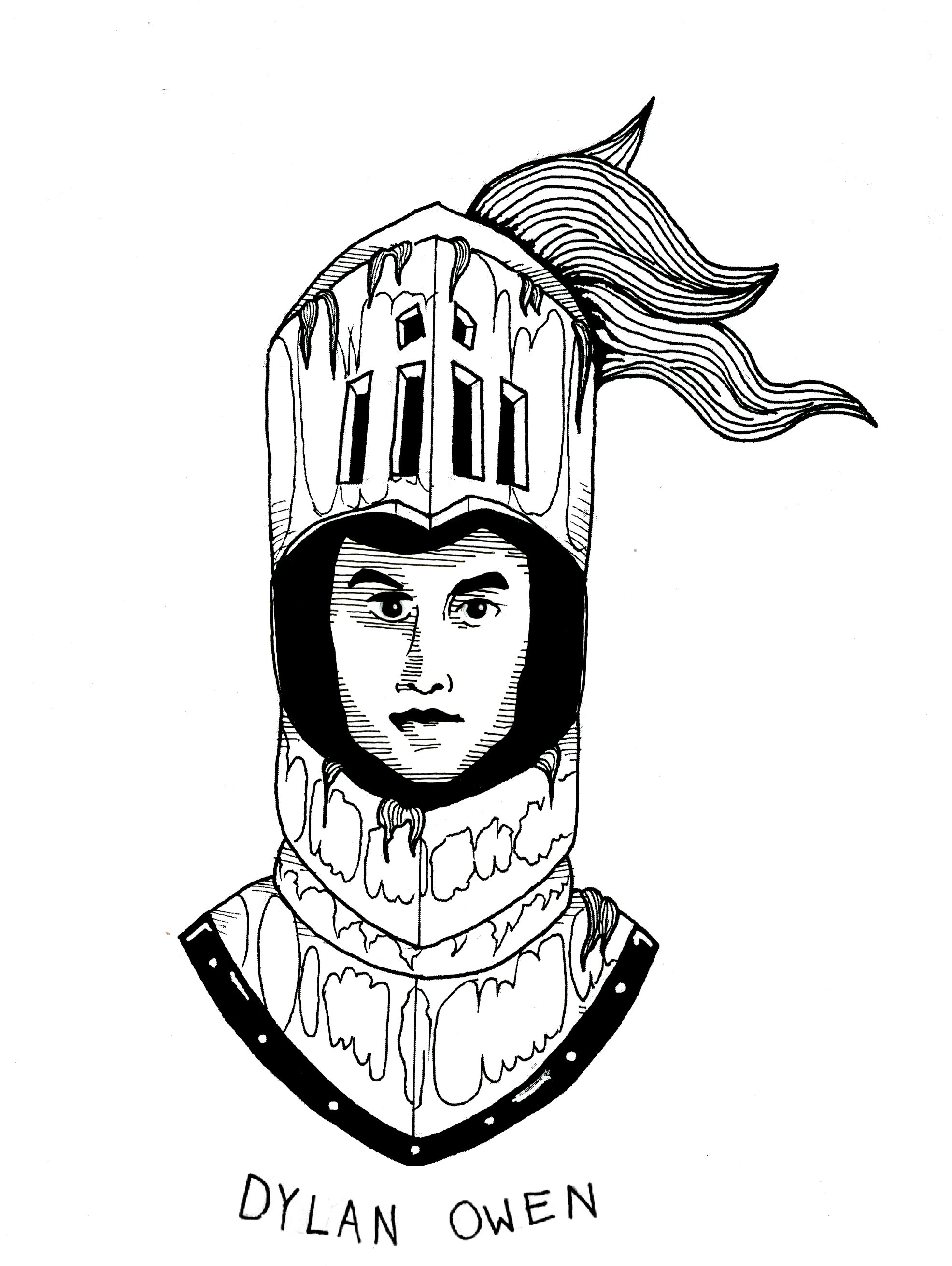 knight mask illustration  by Clarence Corbett