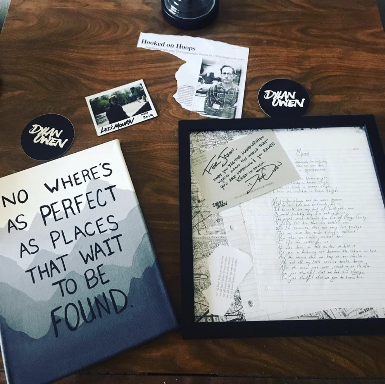 Best Fears of Our Lives handpainted lyrics by mckinleyrose. handwritten Mourn lyrics framed by Jason Wagner:  https://www.instagram.com/p/ByJI-folisA/