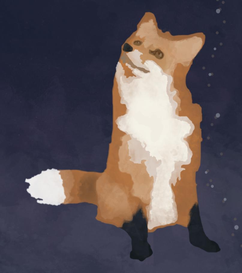 Juniper Fox Watercolour