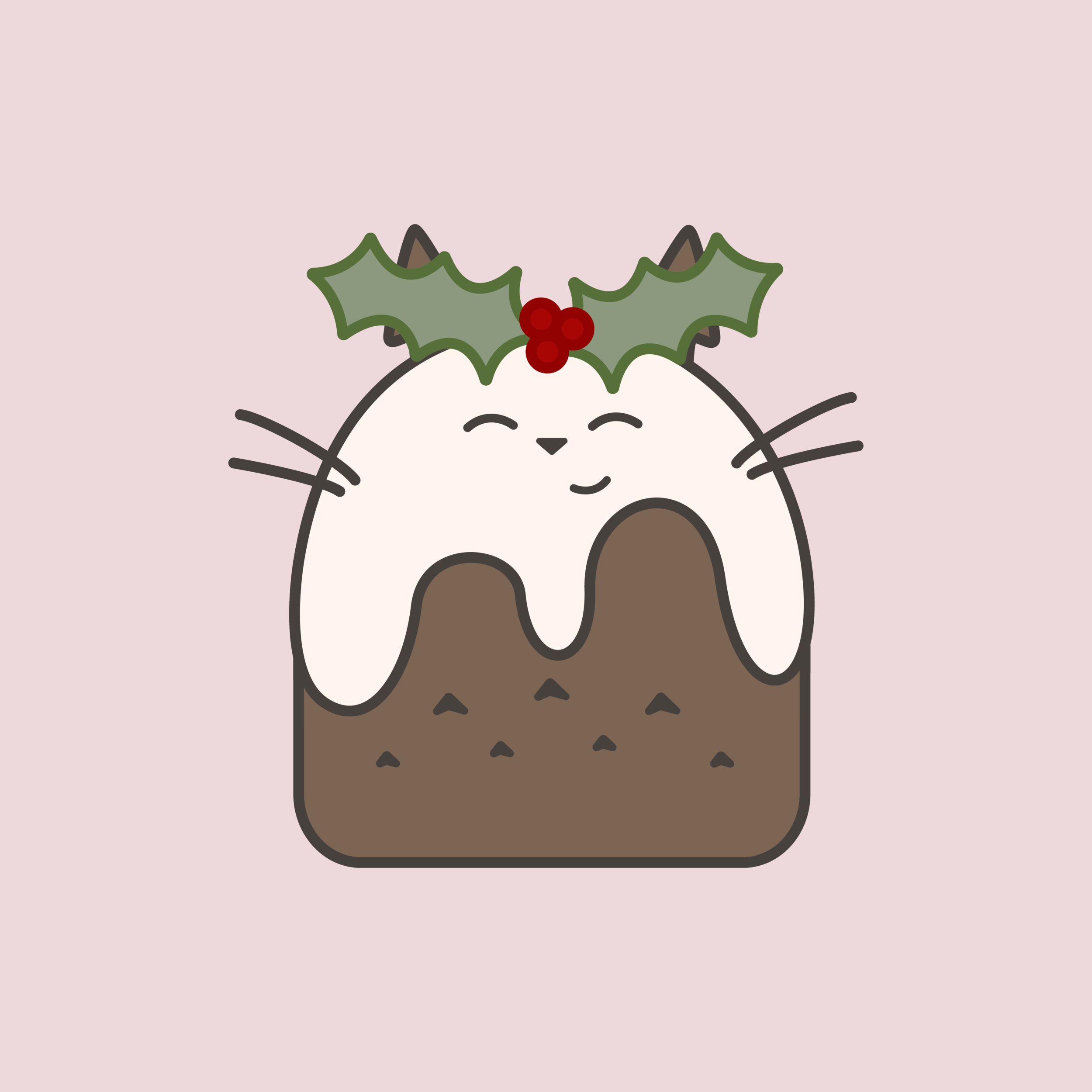 Totoro Christmas Pudding