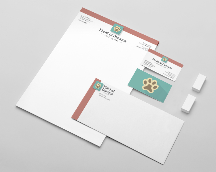 Field of Dreams Rescue, Inc. Stationery