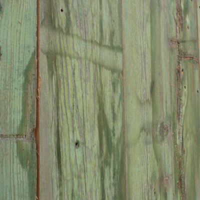 GREEN STAINED RECYCLED SIDING FROM EASTERN WASHINGTON