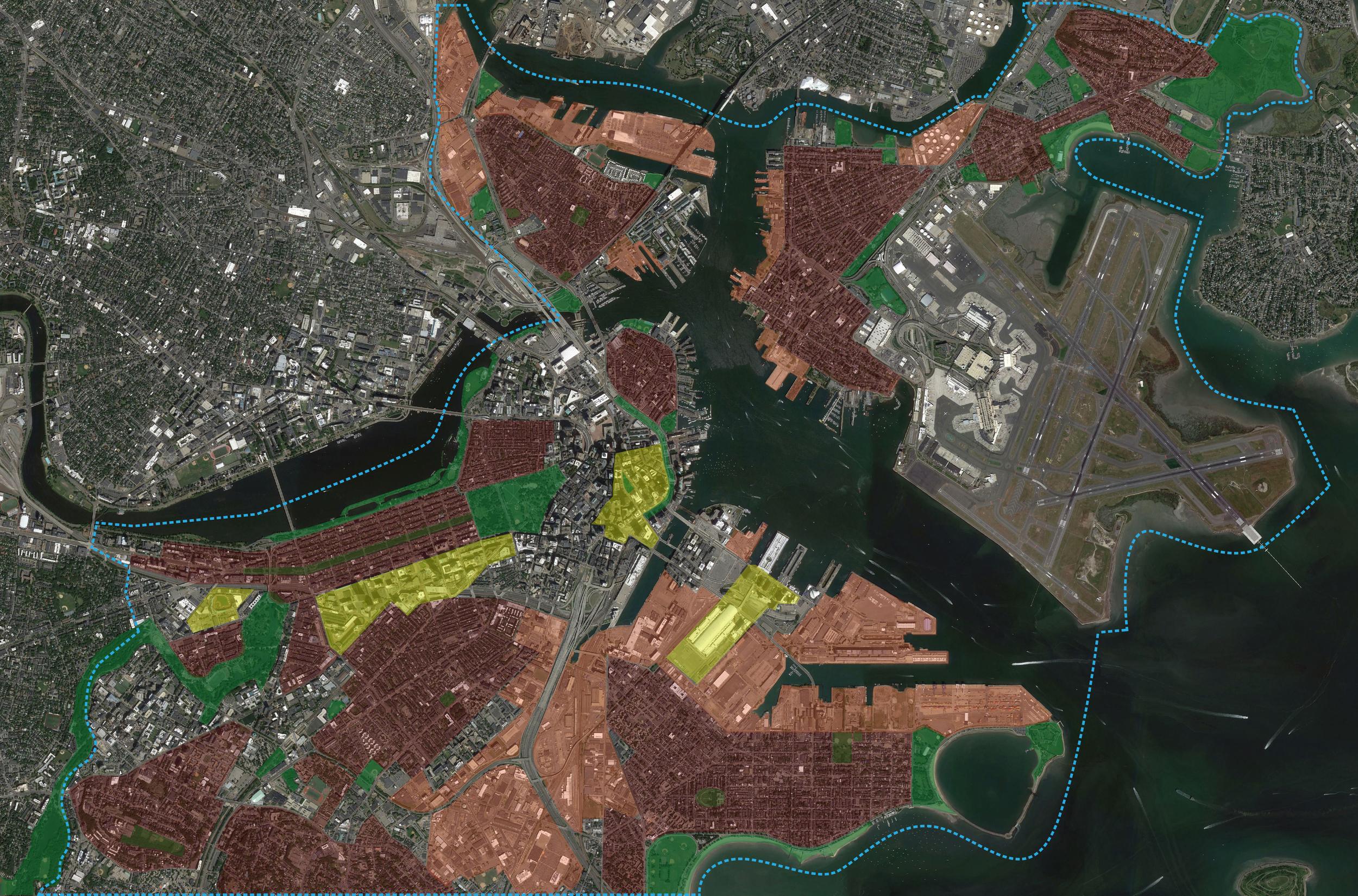 Composite hyper-worlds map of Boston