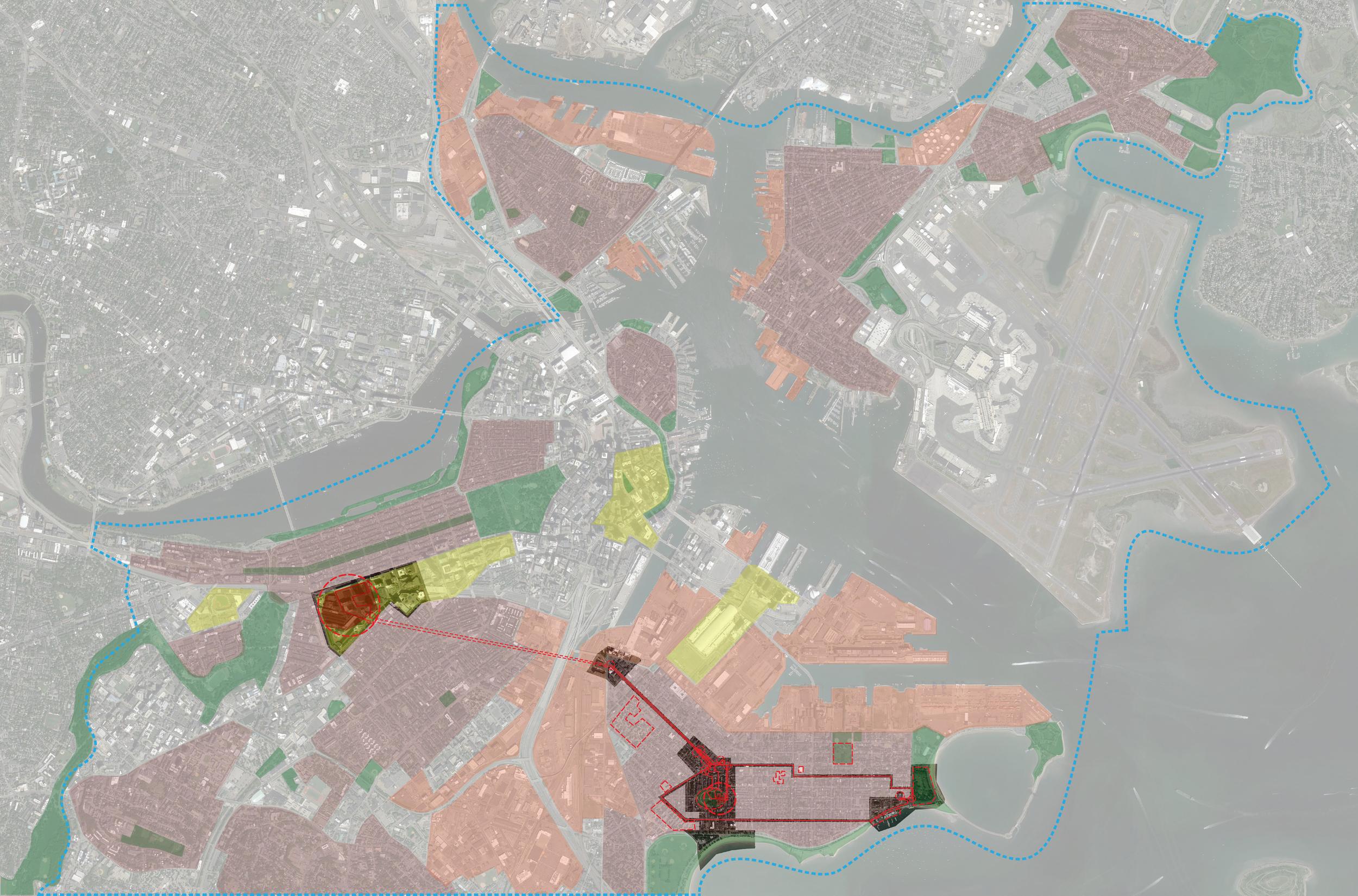 Teenager (residential) narrative on hyper-world map of Boston