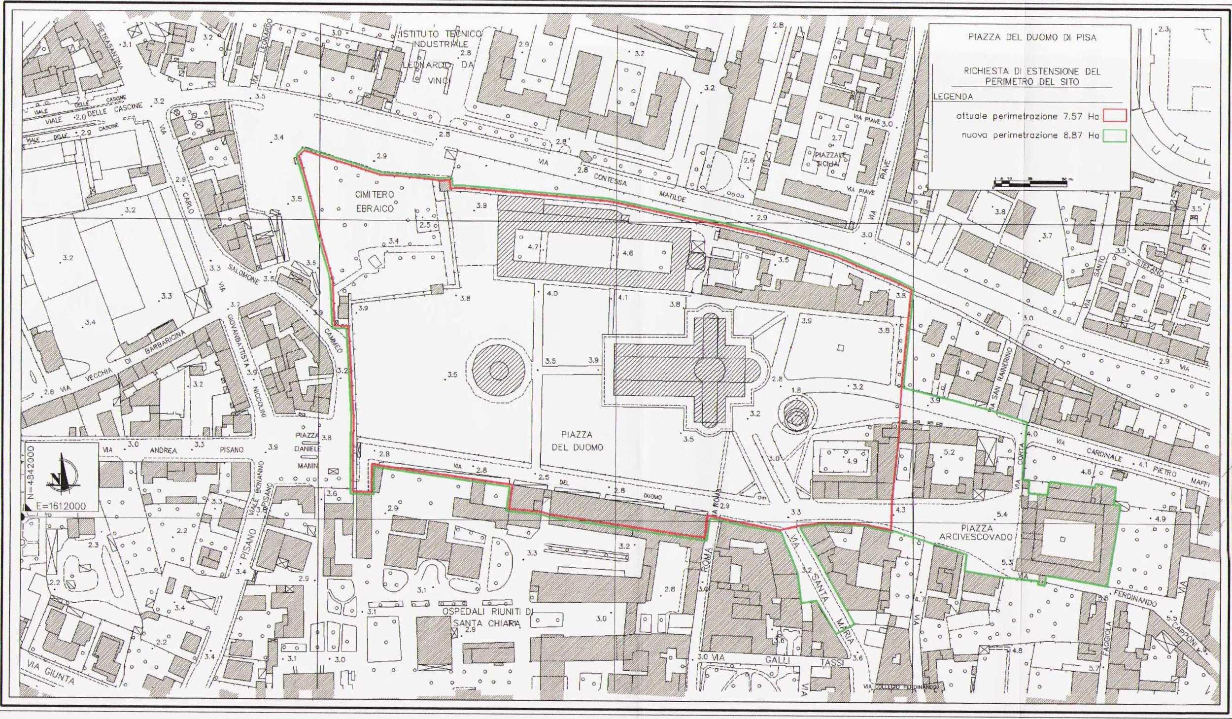 Piazza del Duomo, Pisa, Italy. UNESCO World Heritage site #395. Inscribed 30 December 1986. (UNESCO 1986)