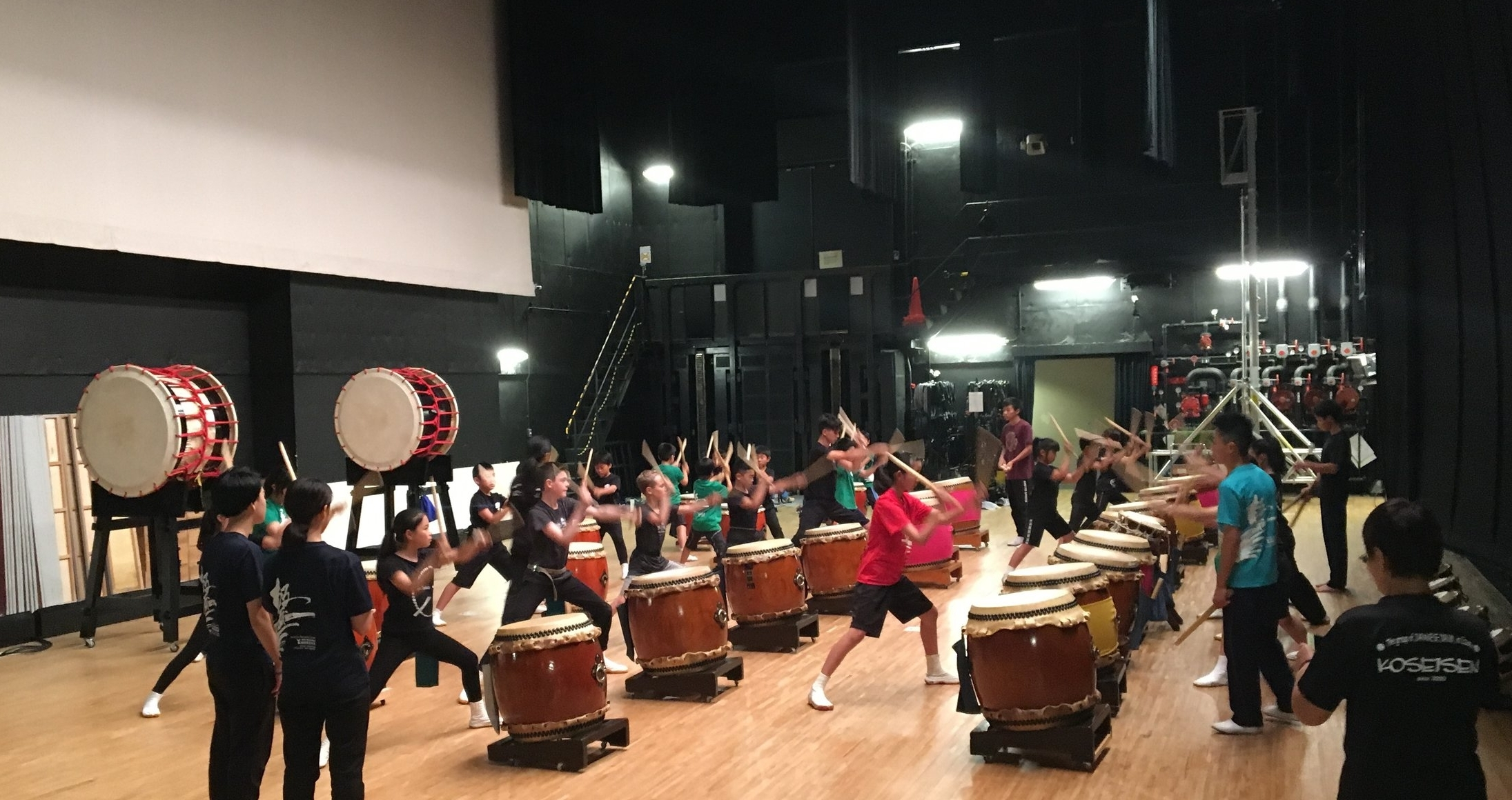 Taiko rehearsal with KOSEISEN in Osaka