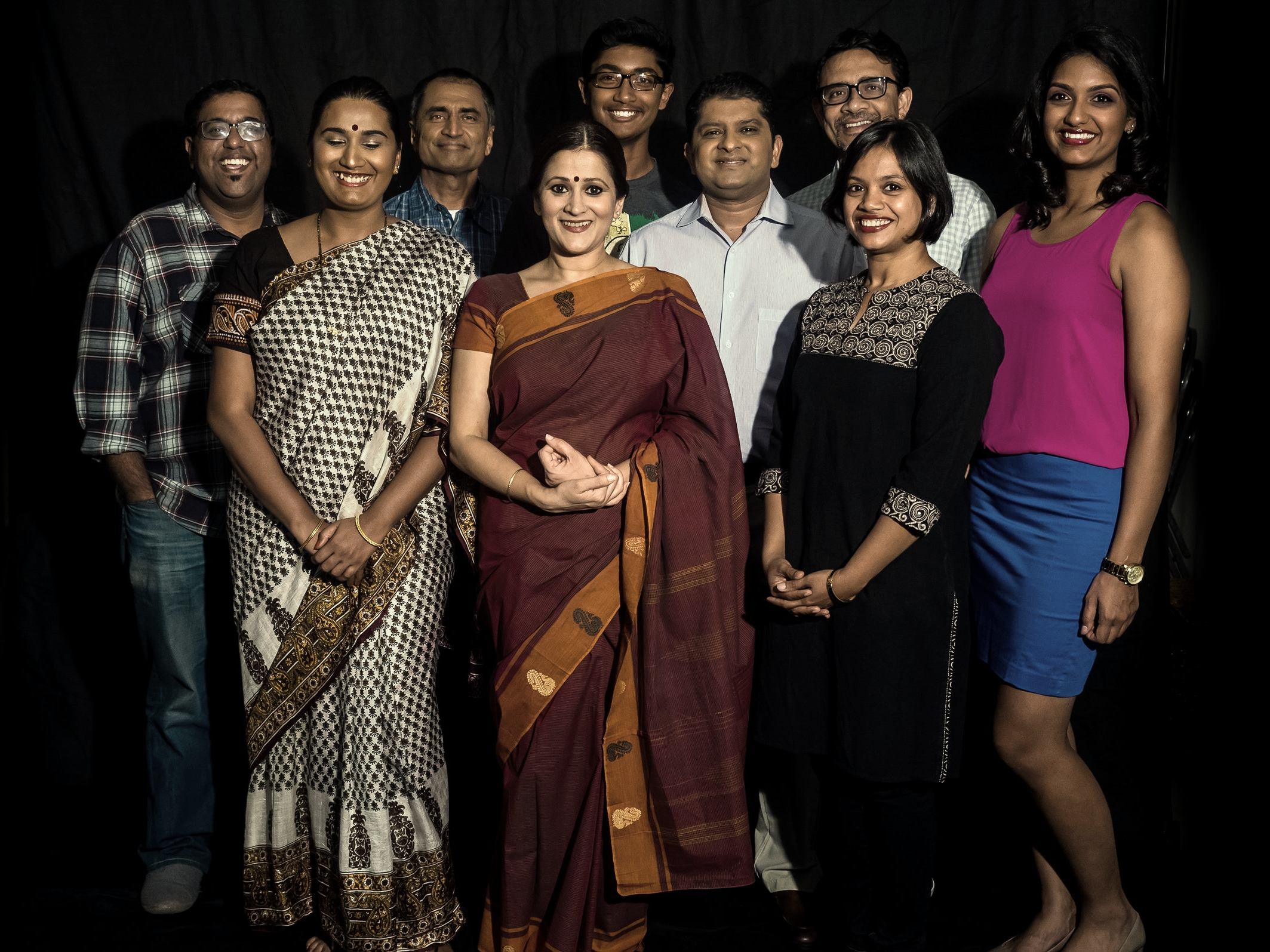 From left to right: Shiva Arunachalam, Prapti Oswal, Neil Vasant, Sindu Singh, Rohan Rangarajan, Pratish Shah, Basab Pradhan, Rashi Garg and Akshaya Ganesh