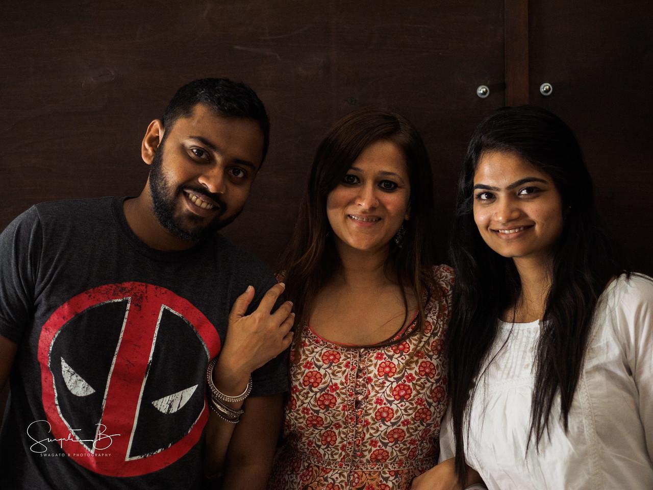 Stage Team members Chandu Subash and Purva Gaggar with Director Sindu Singh