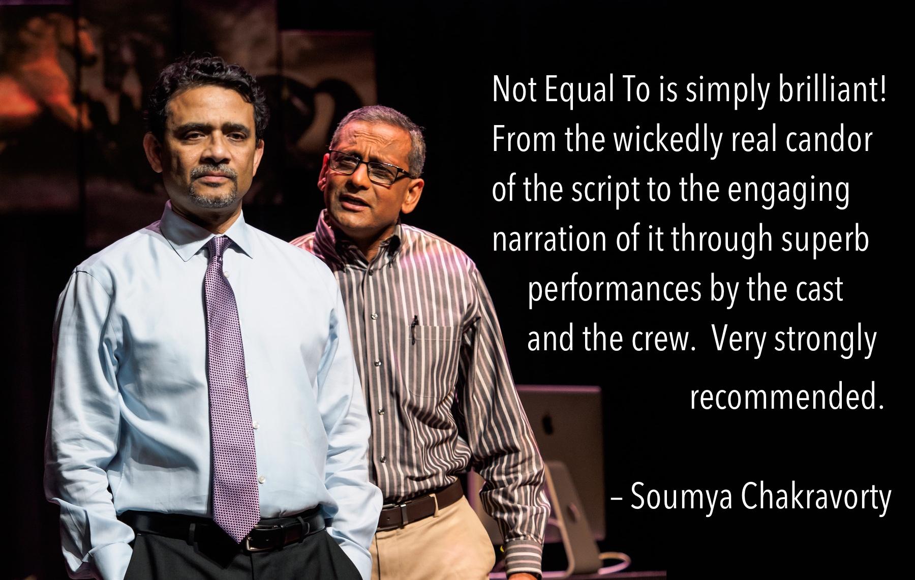 Basab Pradhan as CHAIRMAN RAO and Jay Ganesh as MURALI. PC: Swagato Basumallick