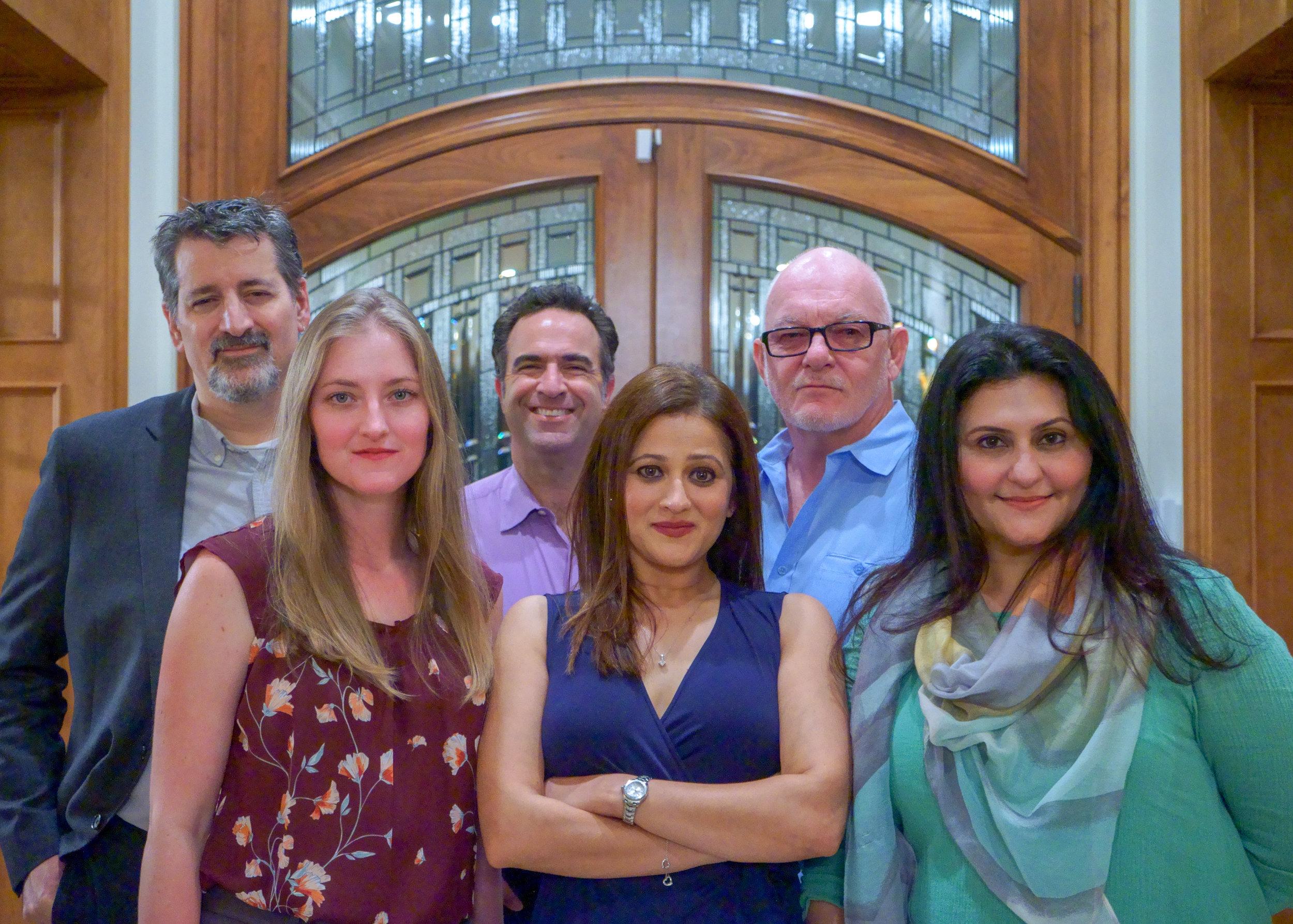 Brian Levi (Ash), Sarah Williams (Jennifer), Ed Keyani (Greg), Sindu Singh (Roma), Paul Costello (Jeremy) and Rita Bhatia (Sumitra)
