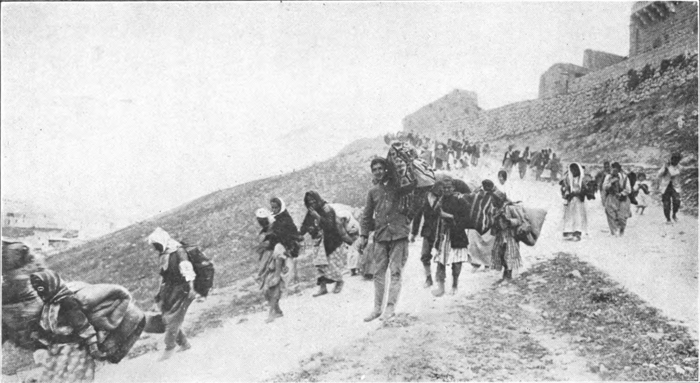 The Armenian Death March. This photo forms the background to our poster for the show. Wikimedia.