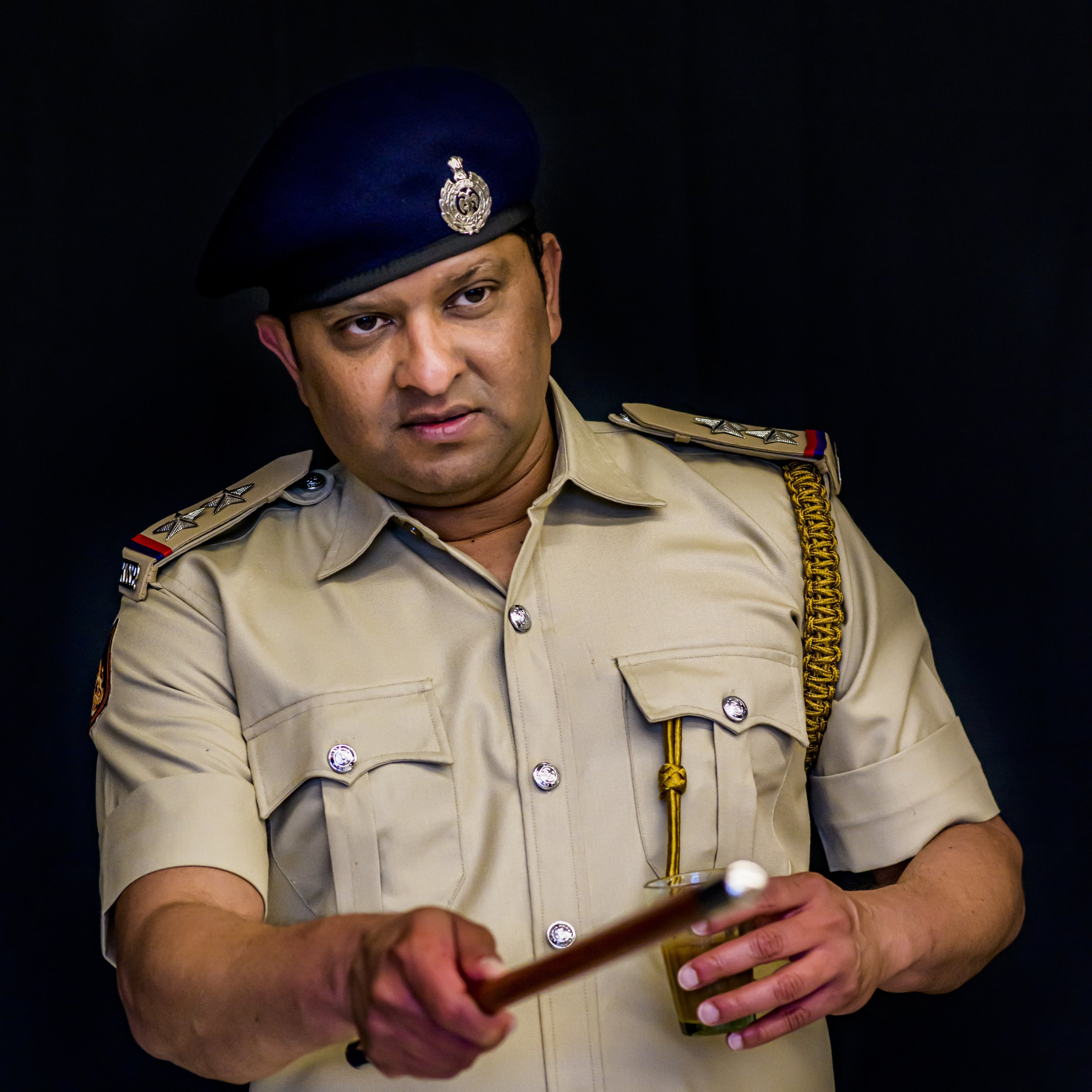 Inspector - Protector of the law. But needs protection from crazy women.Played by Pratish Shah