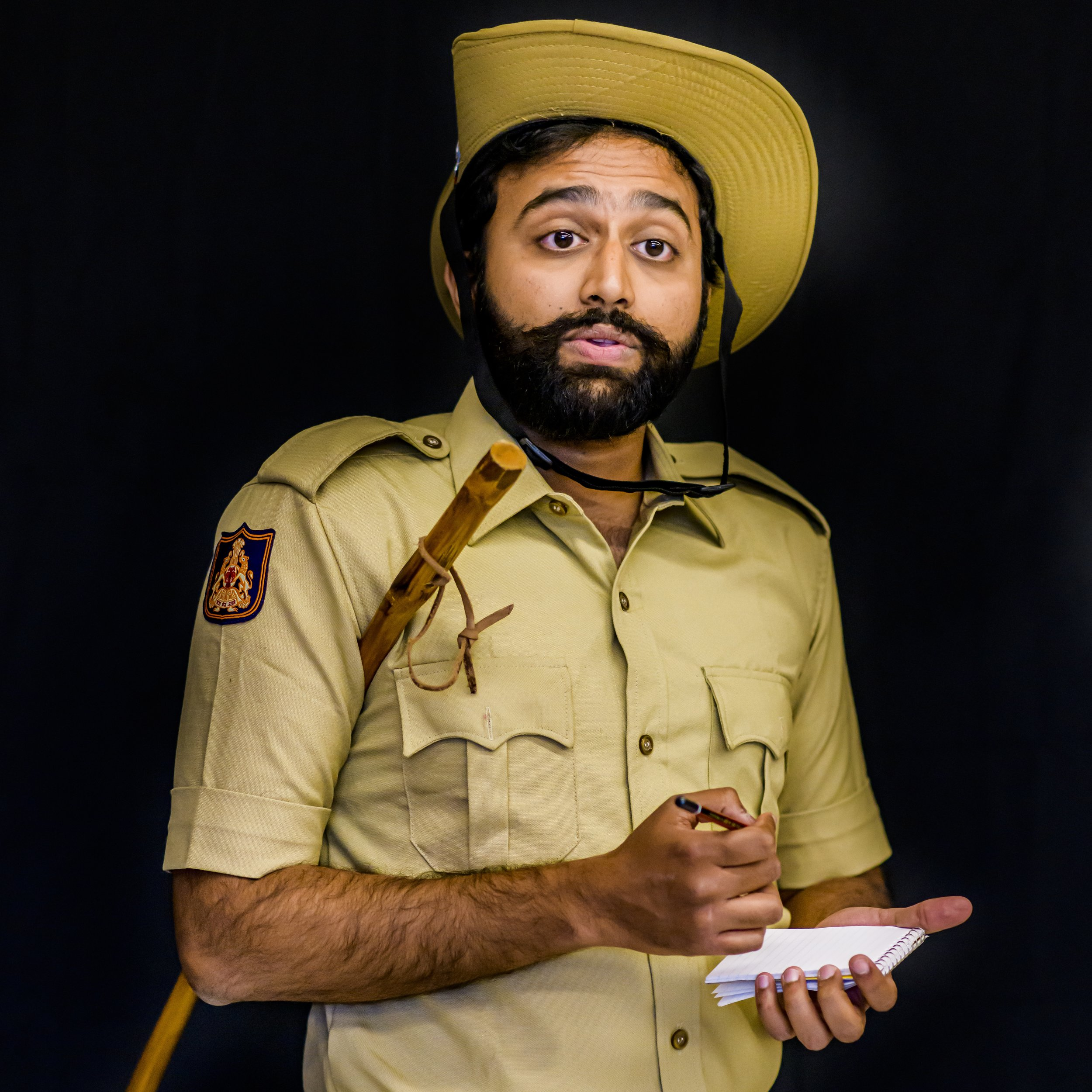 Constable - Relaxed. Only slightly competent. Typical policeman.Played by Kartic Bhargav