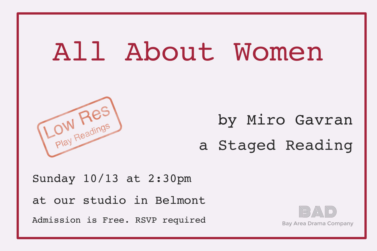 All About Women, Low Res, Staged Reading announcer.png