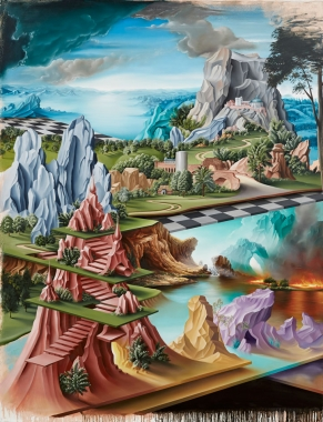 Peter Daverington,  The Hanging Gardens of Nineveh , 2014, oil on canvas, 260 x 198 cm