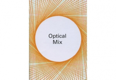 Nike Savvas'  Sliding Ladder: Octagonal Prism  featured on the cover of ACCA  Optical Mix  booklet.