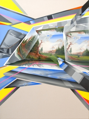 Peter Daverington,  From the Future with Love #2 , 2013, oil on canvas, 122 x 91 cm