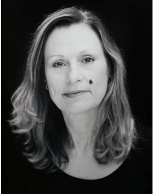 Julie Rrap,  Self-portrait with mouche ,2013, pigment ink-jet print on cotton paper, 127 x 105 cm