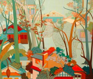 Phaptawan Suwannakudt,  Where There is No One  , 2007, acrylic on canvas, 100x120cm.