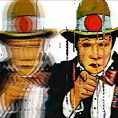 Peter Callas,  Japanese Uncle Sam, (Neo Geo Squareize Series) , 100 x 100cm, chromogenic print edition of 10, 2003.
