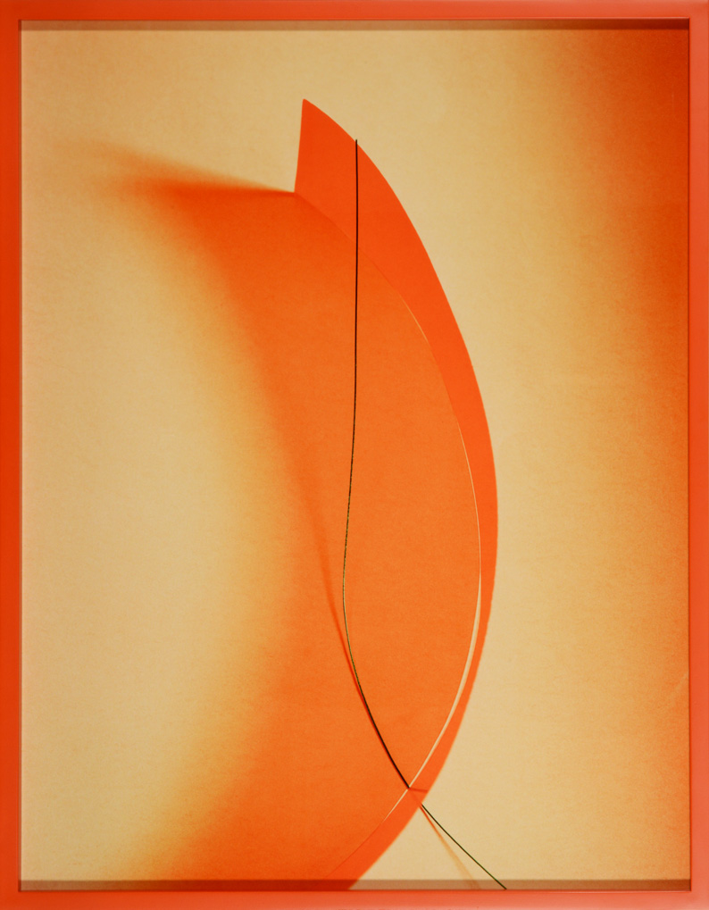LYDIA WEGNER     Orange Wave  2014 Archival Inkjet Print  65 x 84 cm