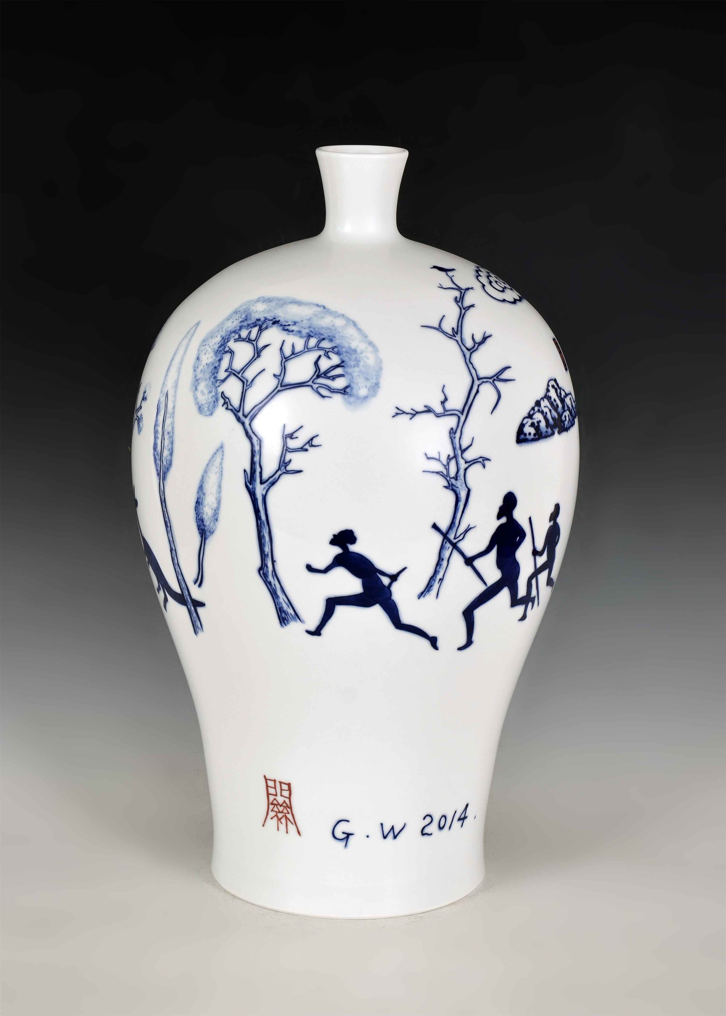 GUAN WEI     Wonderland No.4  2014 Ceramic 46 x 28   cm