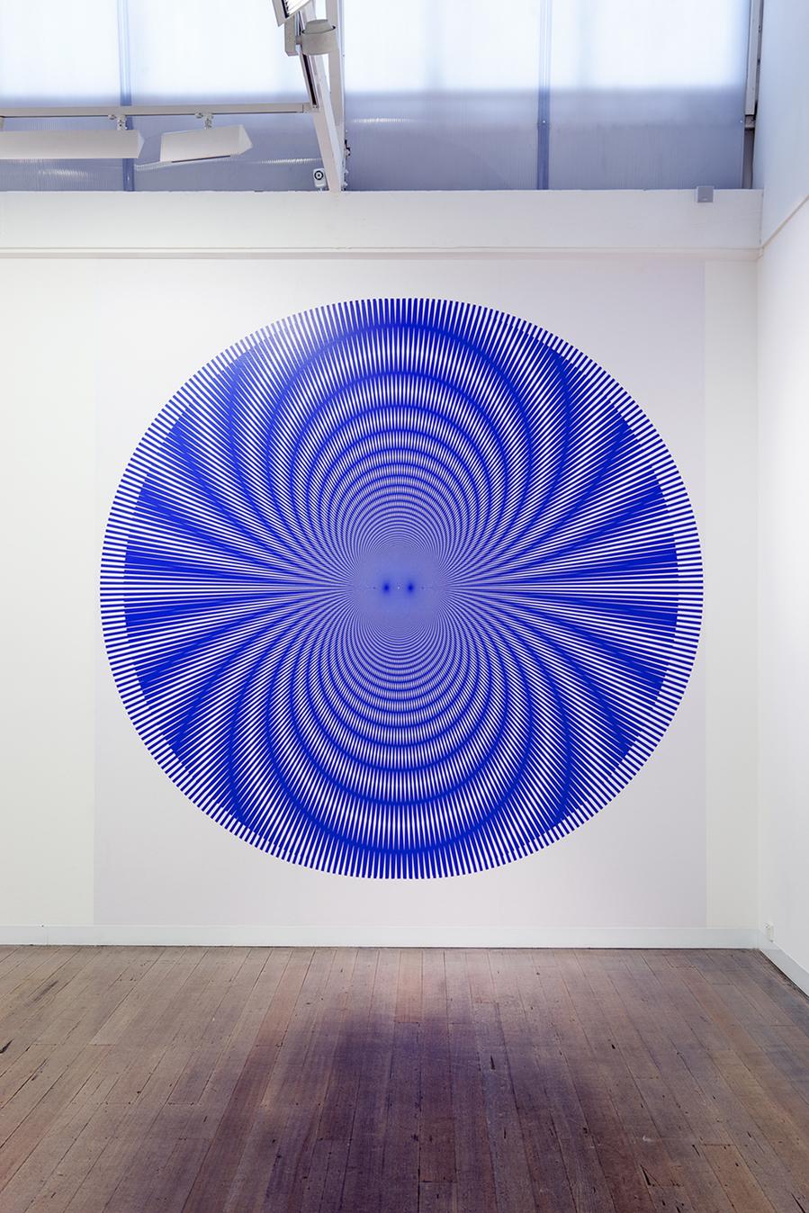 NIKE SAVVAS     Spark (2) (wallpaper)   Sparks  Exhibition View 2014 400 x 300 cm