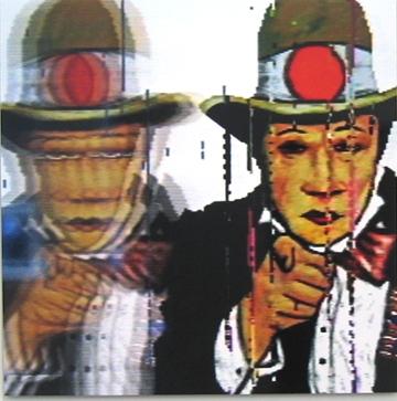 PETER CALLAS     Japanese Uncle Sam ,  Neo Geo Squareaize series   Chromogenic print 100 x 100 cm