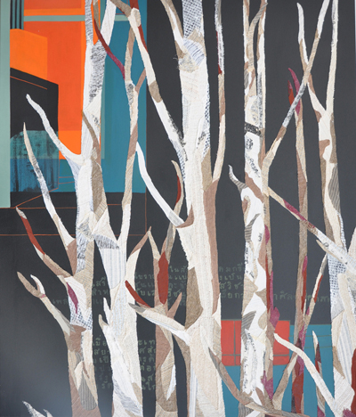 PHAPTAWAN SUWANNAKUDT     Bhava 10  2012 Acrylic and vegetation fiber collage on canvas 12  0 x 10  0 cm