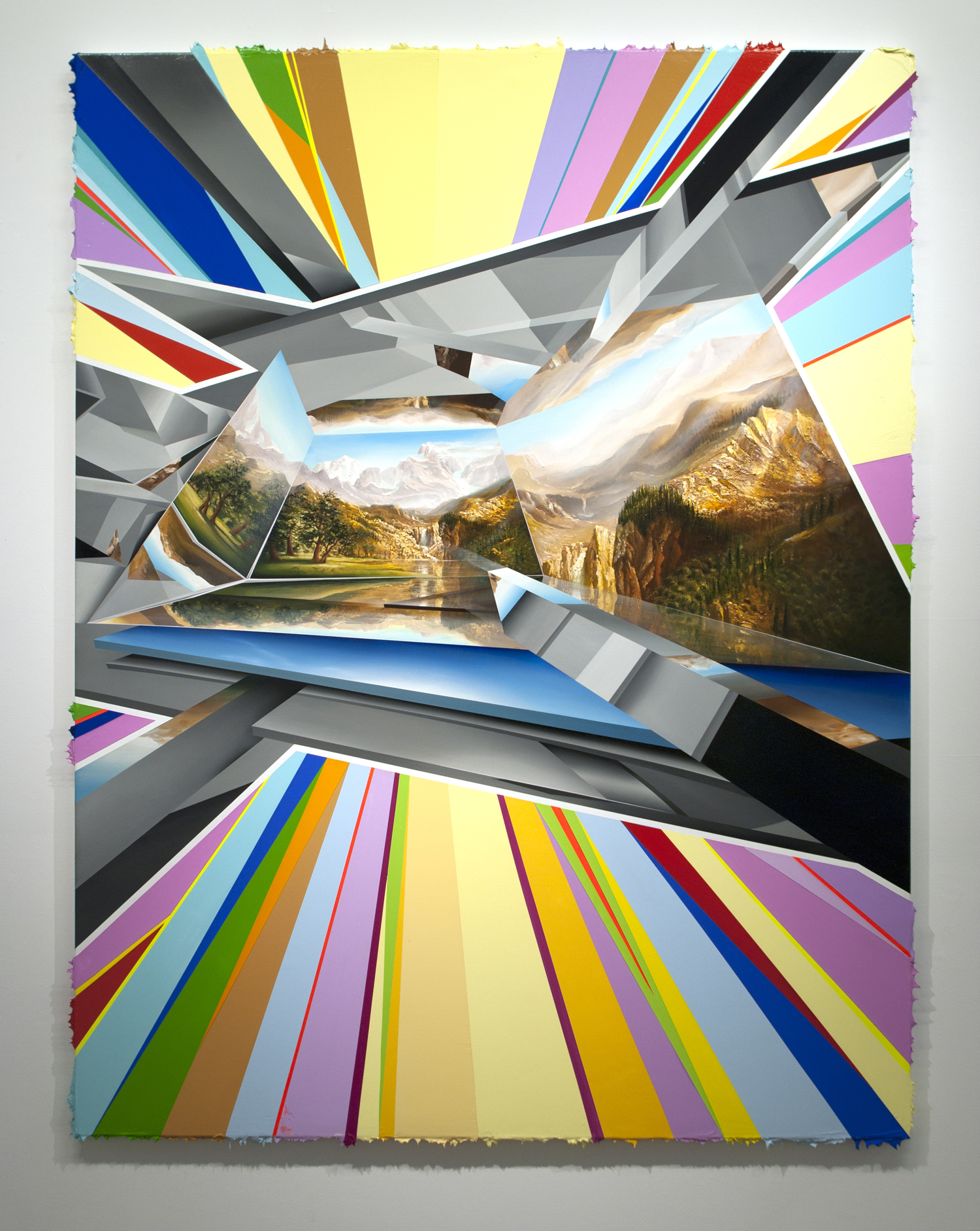 PETER DAVERINGTON     Somewhere Over the Rainbow  2013 Oil and acrylic on canvas 207 x 157 cm
