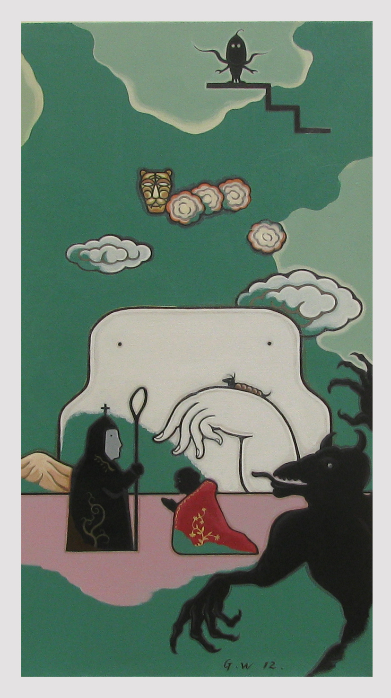 GUAN WEI     The Enchantment No.1  2012  Acrylic on linen  90 x 48 cm