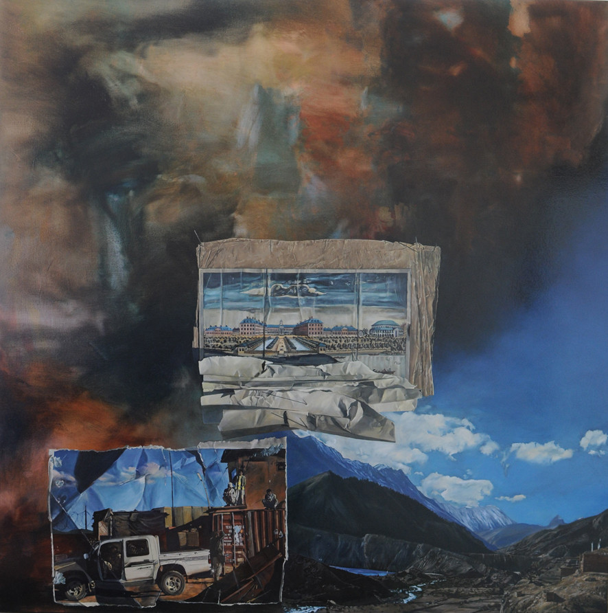 LYNDELL BROWN CHARLES GREEN     Outpost  2011 Oil on linen 170 x 170 cm