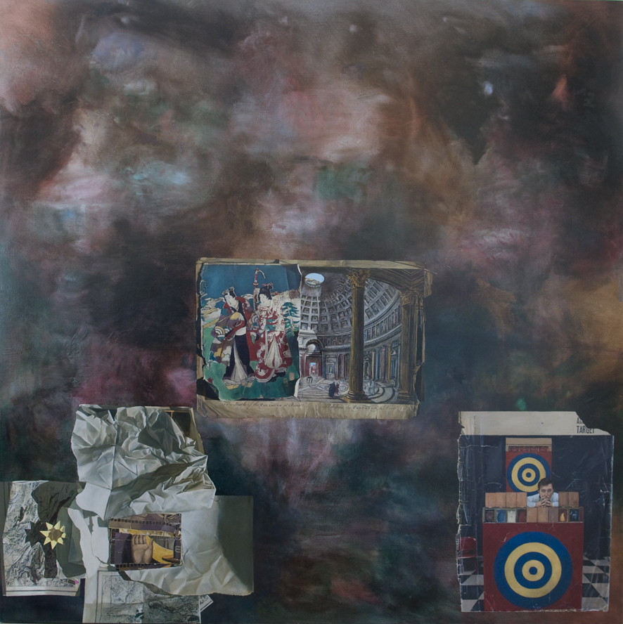 LYNDELL BROWN CHARLES GREEN     Pantheon  2011 Oil on Linen 170 x 170 cm