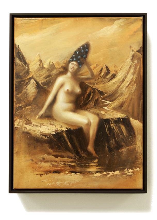 PETER DAVERINGTON     Harvesting Stars in her Hair  2011 Oil on canvas 43 x 33 cm