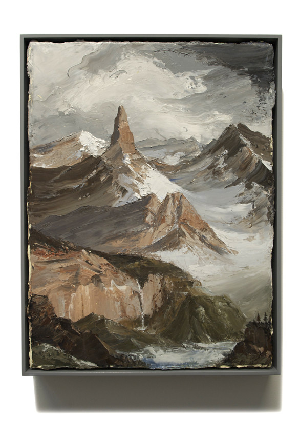 PETER DAVERINGTON     Mountain Painting  2011 Oil on canvas 43 x 33 cm