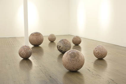 JUSTINE KHAMARA   now I am a radiant people,  installation   2011   Colour photographs, polymer base fibreglass, resin