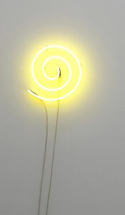 VANILA NETTO    The Artist as a Luminous Source    2010   Neon Light  165cm coiled up, 30cm in diameter