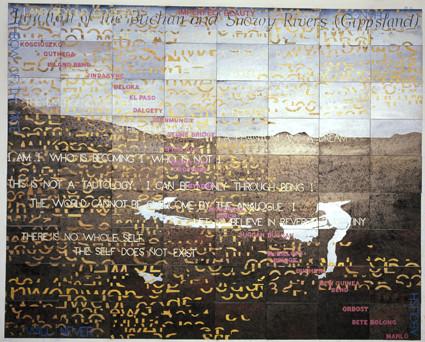 MANTS TILLERS     Melancholy Landscape VI  2010 Acrylic, Gouche on 72 Canvas Boards 302 x 229