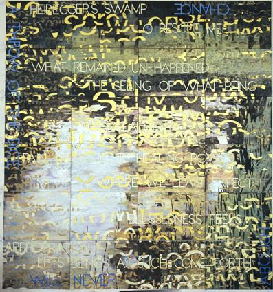 IMANTS TILLERS     Heidegger's Swamp  2010 Acrylic, Gouche on 24 Canvas Boards 143 x 153
